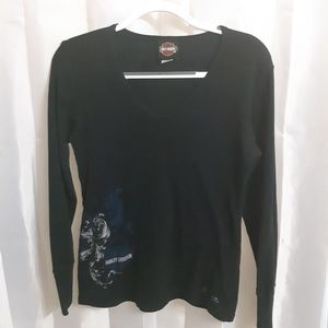 Harley-Davidson Long Sleeve Womans Top